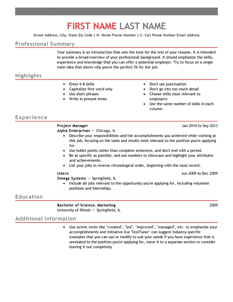 Entry Level Resume Examples And Writing Tips Free Resume Templates Fast And Easy Livecareer