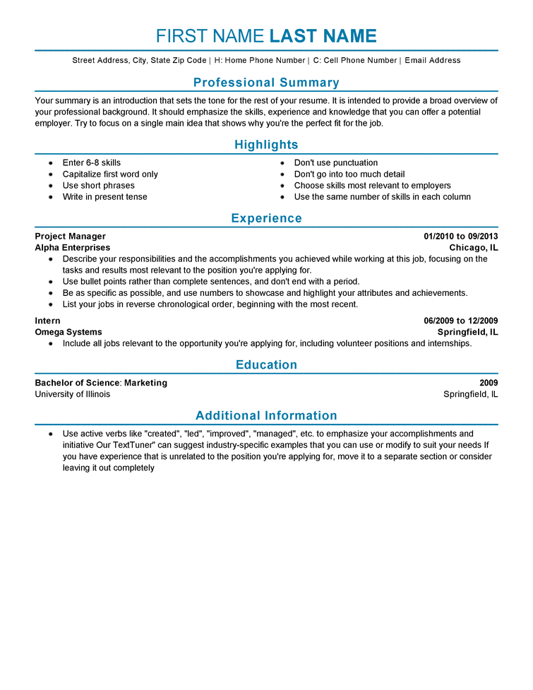 28 resume format for experienced candidates free