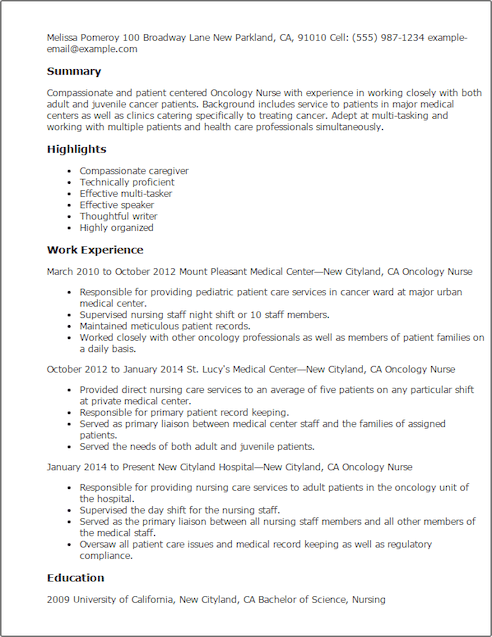 sample resume ur nurse resume sle nursing avenue