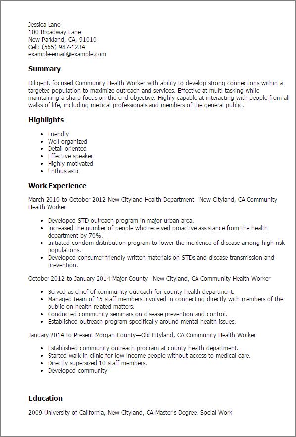 sample resume for mental health social worker