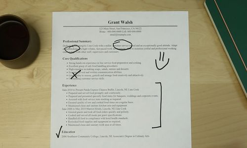 Ashford University Assignment Help Cheap Homework Help line cook - resume for a cook
