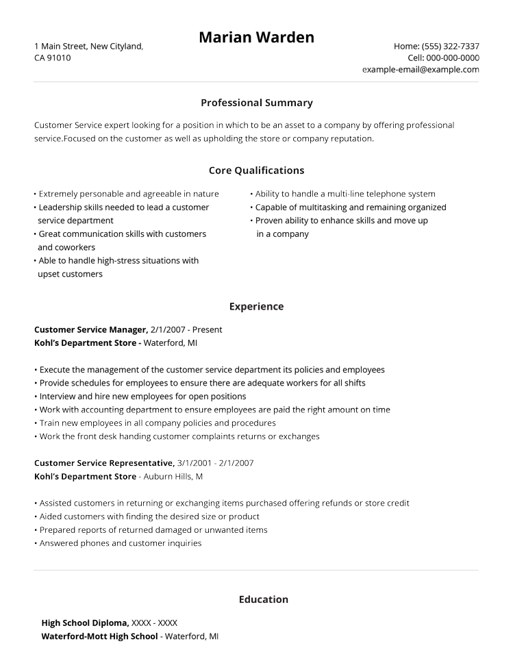 99+ Free Professional Resume Formats  Designs LiveCareer - resume working experience