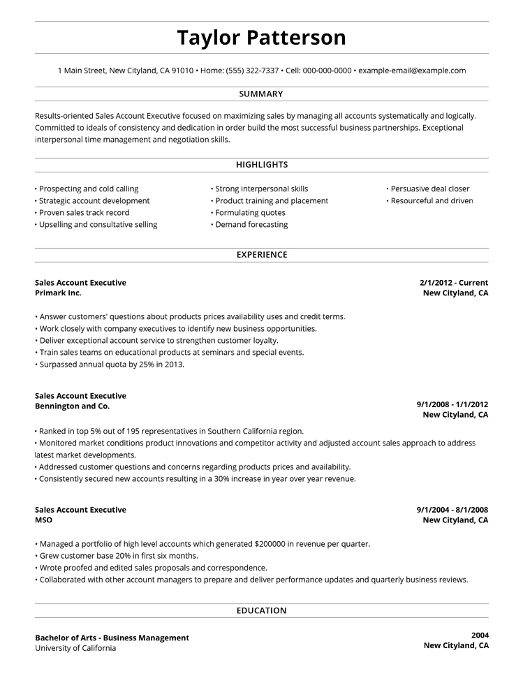 99+ Free Professional Resume Formats  Designs LiveCareer - resume format for professionals