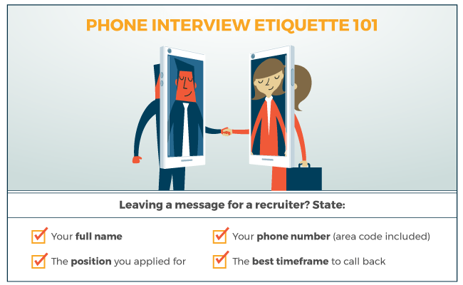 Phone Interview Etiquette 101 LiveCareer
