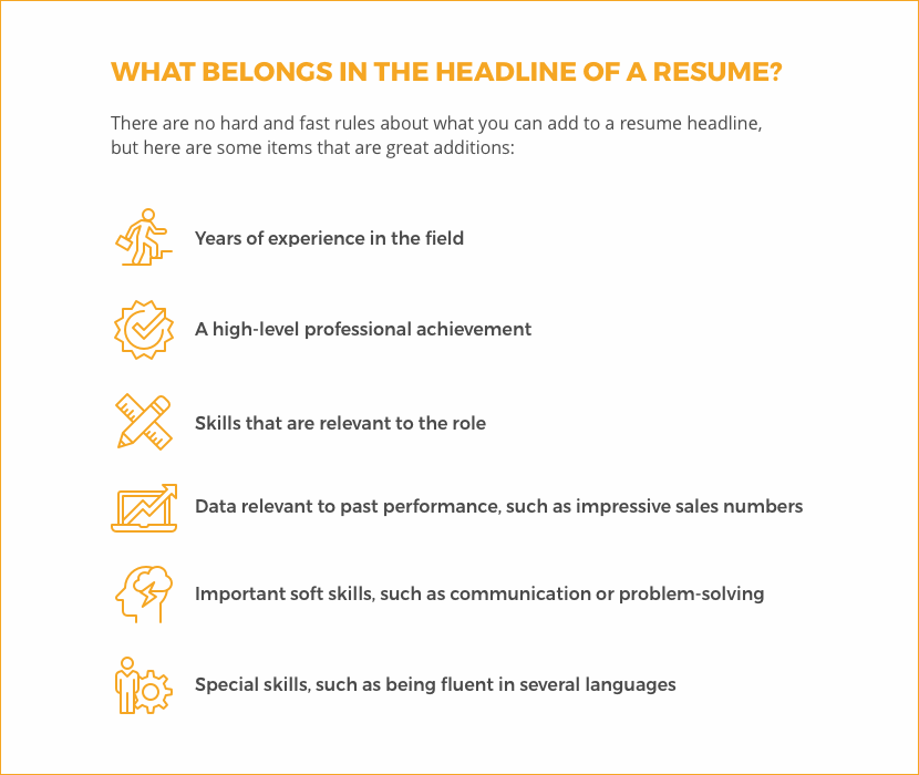 6 Tips to Writing a Winning Resume Headline LiveCareer