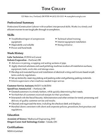 View 30+ Samples of Resumes by Industry  Experience Level
