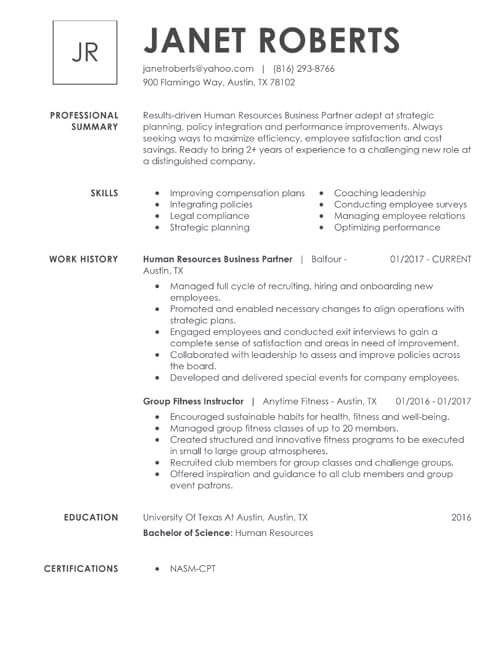 99+ Free Professional Resume Formats  Designs LiveCareer
