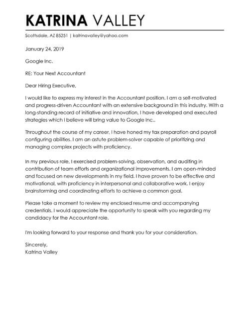 Free Cover Letter Examples Put Your Best Foot Forward