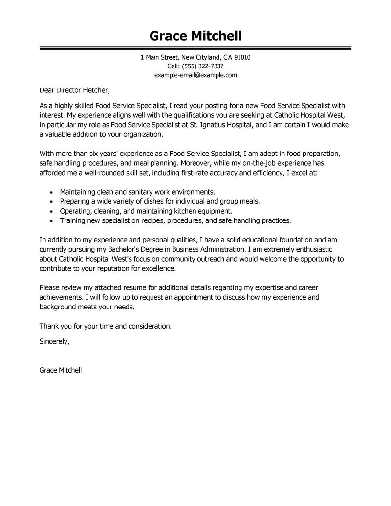 cover letter for support specialist
