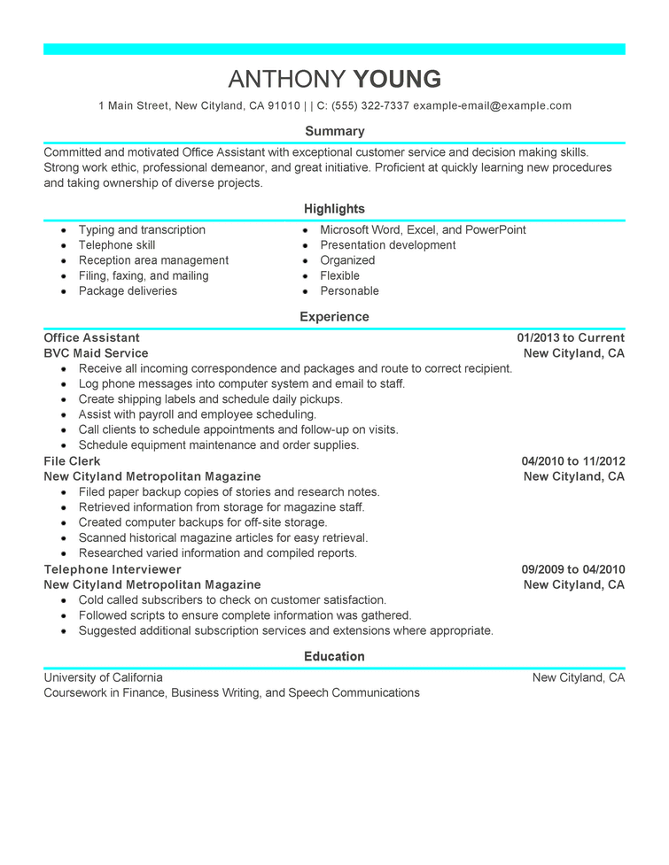 Free Resume Examples by Industry  Job Title LiveCareer - how do i write resume