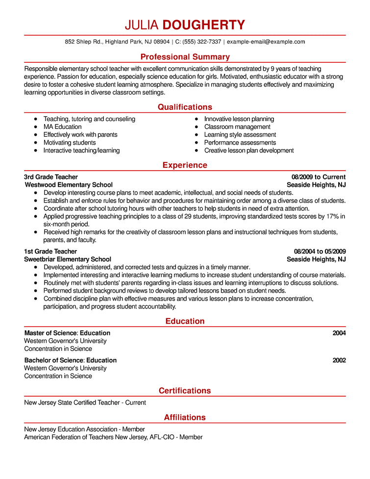 examples of headline statements for resume
