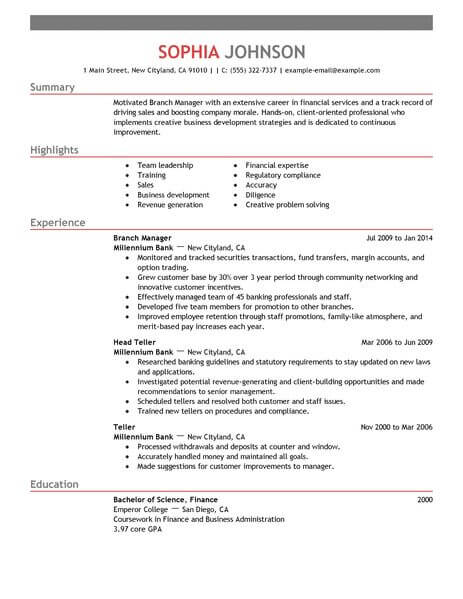 16 Amazing Accounting  Finance Resume Examples LiveCareer