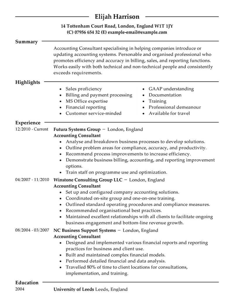resume making consultancy