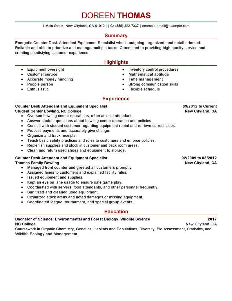 multitasking resume example