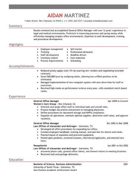 achievement examples in resume