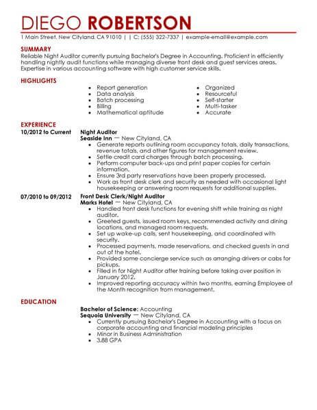 resume examples owl
