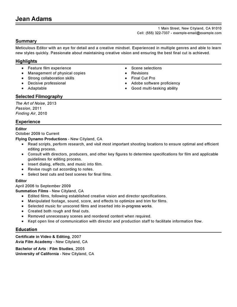 resume objective for quality assurance specialist