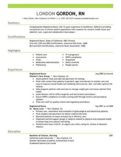 Best Registered Nurse Resume Example | LiveCareer