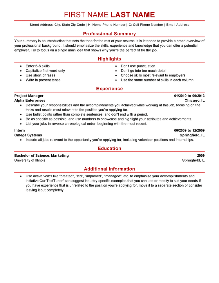 Modern 5 Resume Templates to Impress Any Employer LiveCareer
