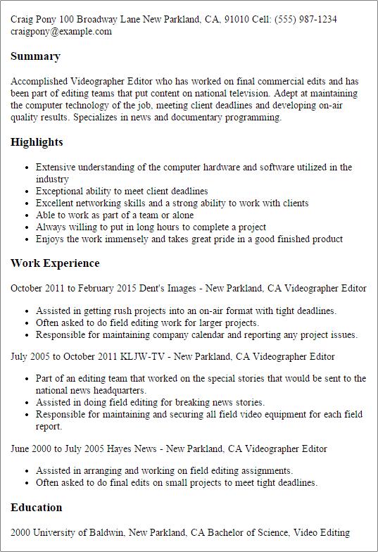 best resume basics
