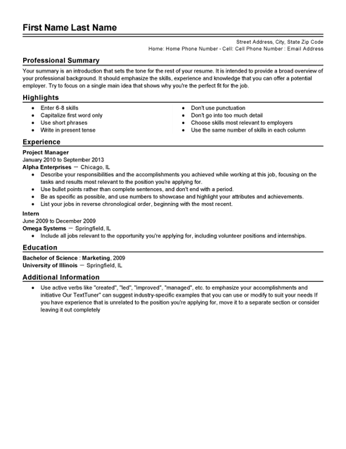 traditional resume templates microsoft word