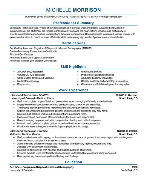 resume objective example for instructor