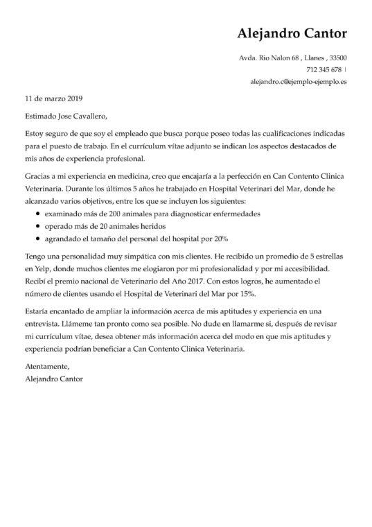 Carta De Representacion Laboral
