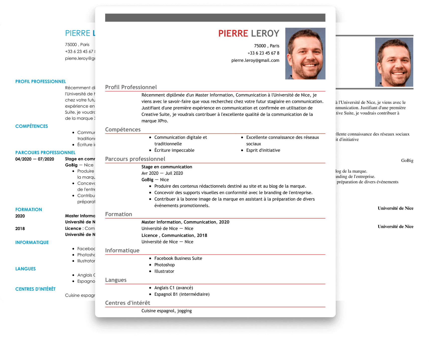 exemple introduction cv assistante de direction