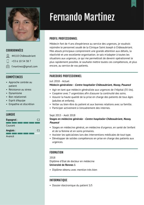 differents modele de cv