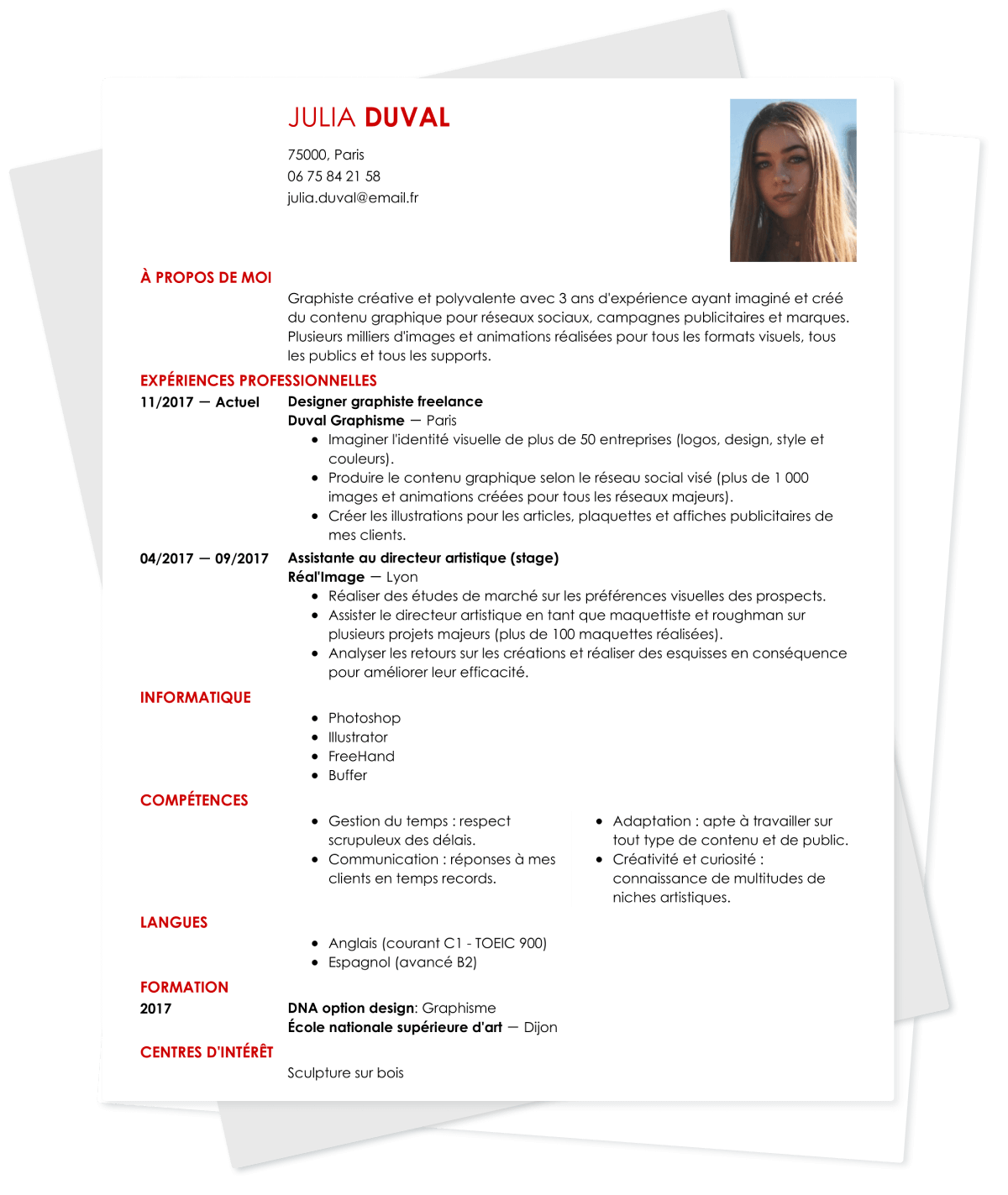 objectif professionnel manager cv