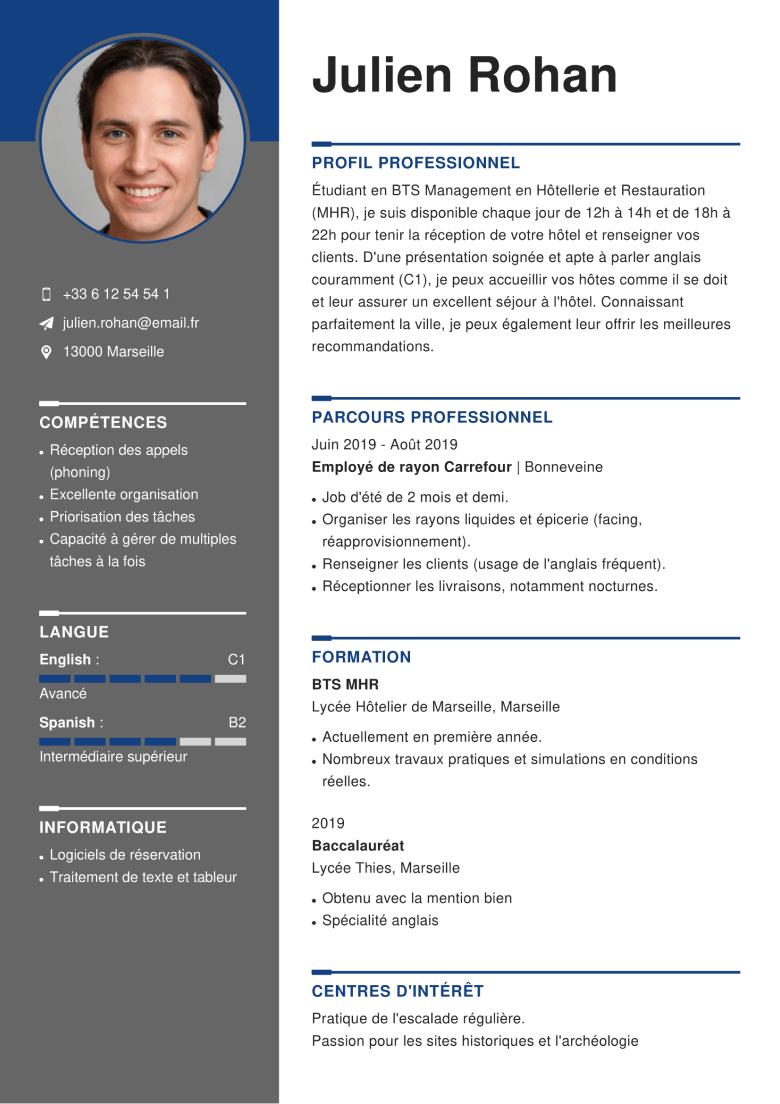 competences technicien fibre optique cv