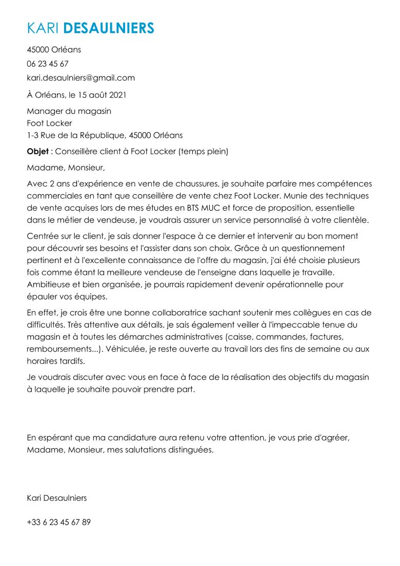lettre de recommandation cv