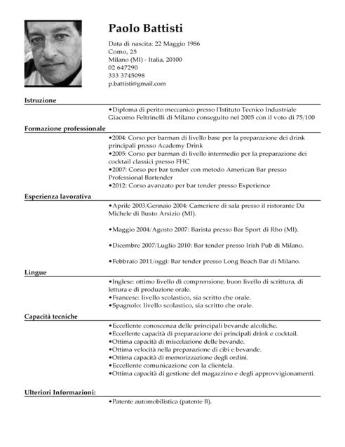 cv barman pdf