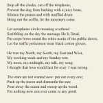 Funeral Blues by W H Auden inmemoryofmyhusband grief loss lovehellip