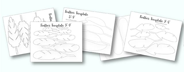 Printable Turkey Feather Patterns  Templates - Free Live Craft Eat