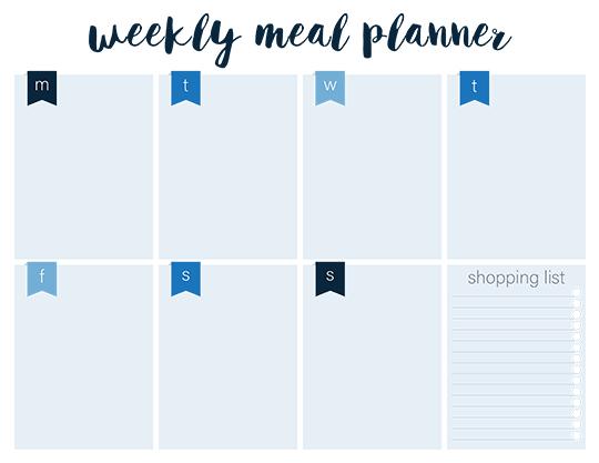 Printable Weekly Meal Planners - FREE Live Craft Eat - printable meal planner