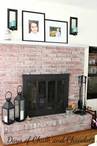 Whitewashed Brick Fireplace - Live Creatively Inspired