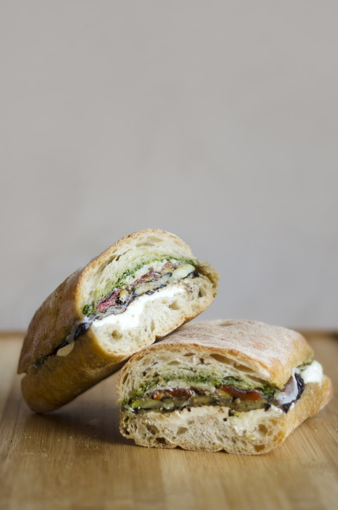 Pressed Eggplant Sandwiches | Live Eat Learn