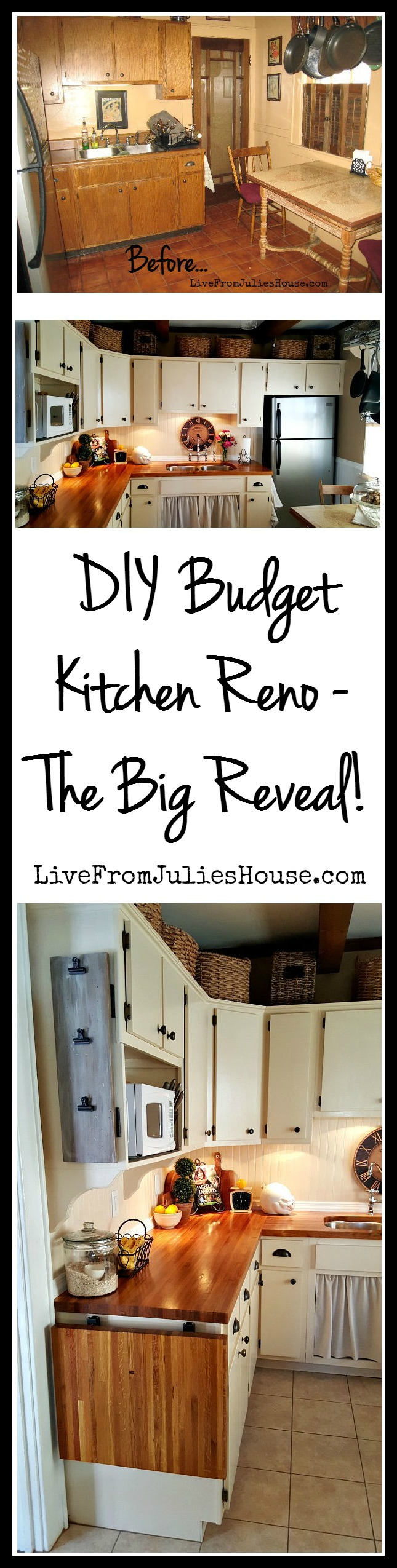 DIY Cottage Kichen Reno on a Budget - This 10'x10' room is jam packed with clever, budget friendly ideas for making the most of a small space.