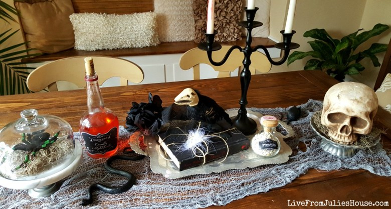 Halloween Decor on the Cheap: 5 Fast Thrift Store Fixes - Looking for fast and easy Halloween decor? Give your Halloween vignette spooky vintage style with these 5 easy to find thrift store items.