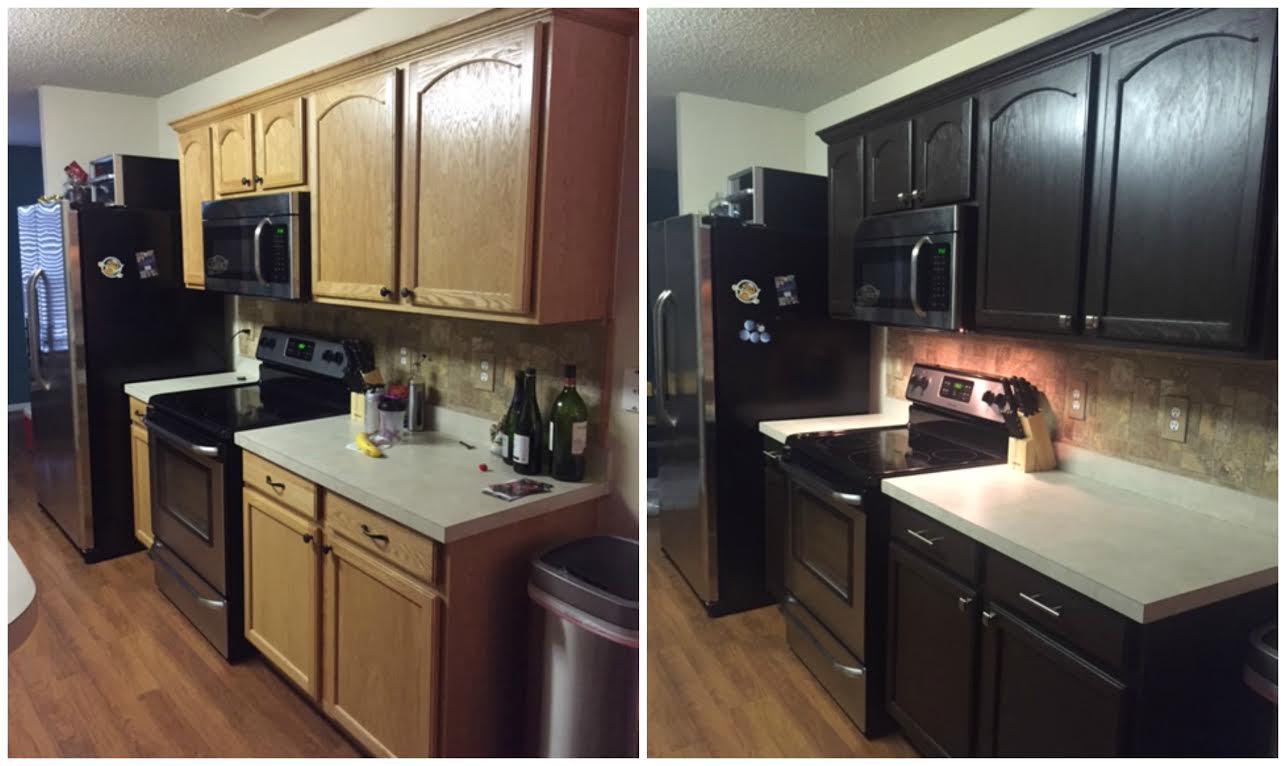 Diy paiting kitchen cabinets rustoleum expresso kit espresso