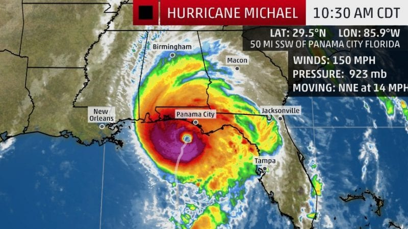 florida weather channel live hurricane coverage michael