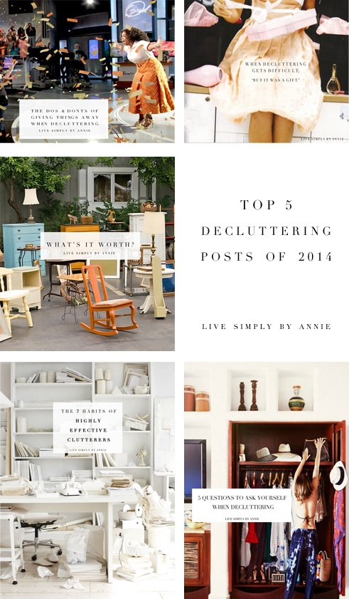 Top 5 decluttering posts of 2014 live simply by annie - Important thing consider decluttering ...