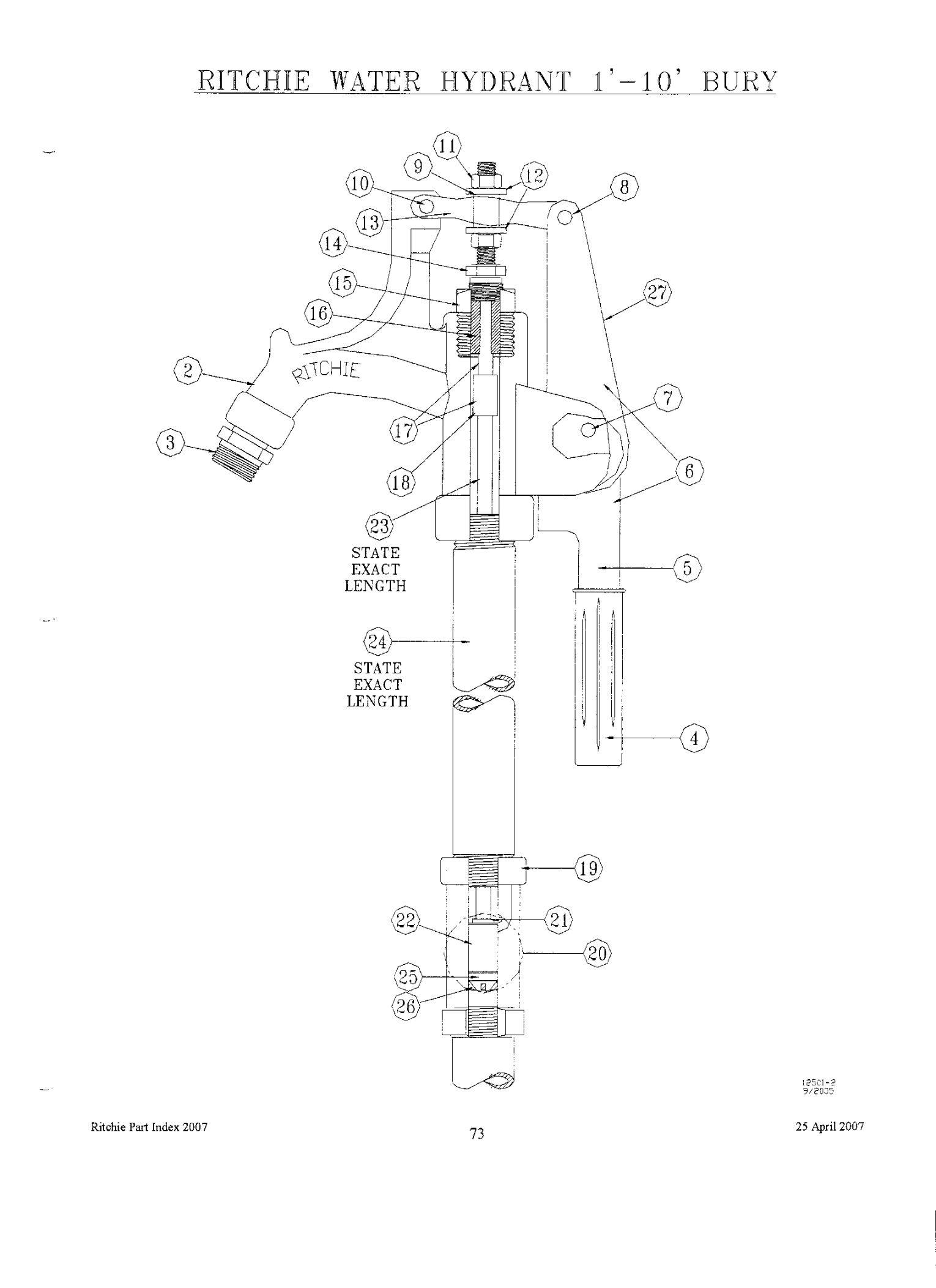yard hydrant diagram