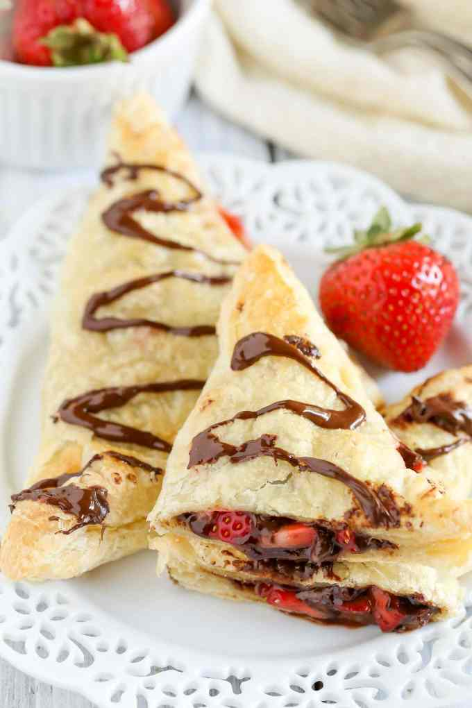 ... Strawberry Nutella Turnovers make one delicious and decadent dessert