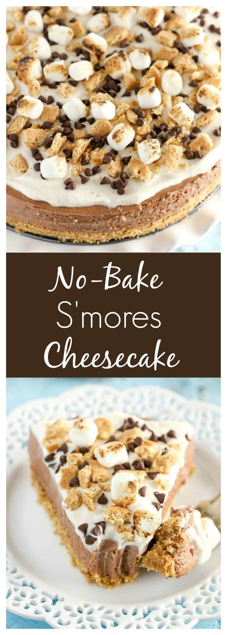 No-Bake S'mores Cheesecake - Live Well Bake Often