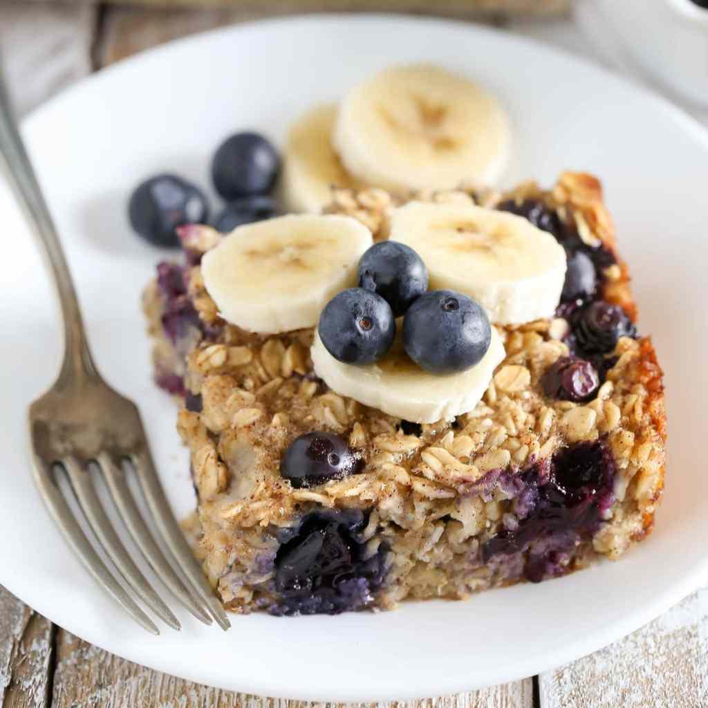 Blueberry Banana Baked Oatmeal - Live Well Bake Often