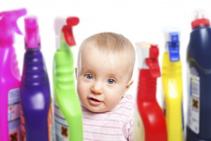 Baby with Household Chemicals