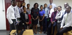 Group Photo : LWI CEO Pharm Bisi Bright  with NSE Graduate Trainees