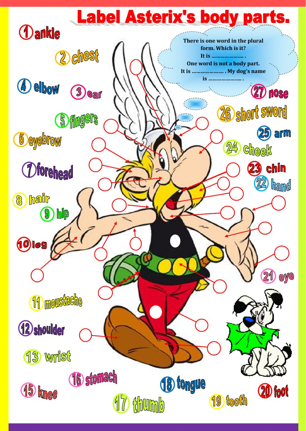 Entry3 Asterix S Body Parts Interactive Worksheet